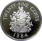 25 Cents - Elizabeth II (Hamilton; Silver Proof Issue) – reverse