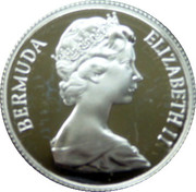 25 Cents - Elizabeth II (St. George; Silver Proof Issue) – obverse