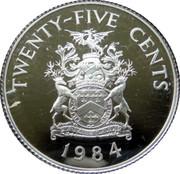 25 Cents - Elizabeth II (Warwick Parish; Silver Proof Issue) – reverse