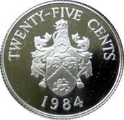 25 Cents - Elizabeth II (Smith's Parish; Silver Proof Issue) – reverse