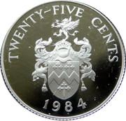 25 Cents - Elizabeth II (Sandy's Parish; Silver Proof Issue) – reverse