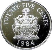 25 Cents - Elizabeth II (Hamilton Parish; Silver Proof Issue) – reverse