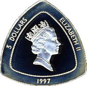 3 Dollars - Elizabeth II (Wreck of the Sea Venture) -  obverse
