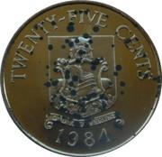 25 Cents - Elizabeth II (Bermudas) – reverse