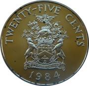 25 Cents - Elizabeth II (Warwick Parish) – reverse