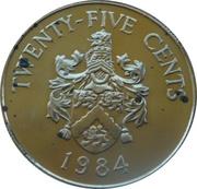 25 Cents - Elizabeth II (Smith's Parish) – reverse