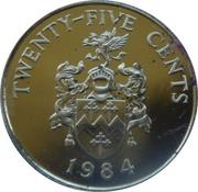 25 Cents - Elizabeth II (Sandy's Parish) – reverse