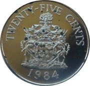 25 Cents - Elizabeth II (Hamilton Parish) – reverse
