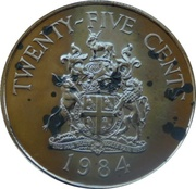25 Cents - Elizabeth II (Southampton Parish) – reverse