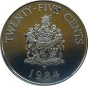 25 Cents - Elizabeth II (Pembroke Parish) – reverse