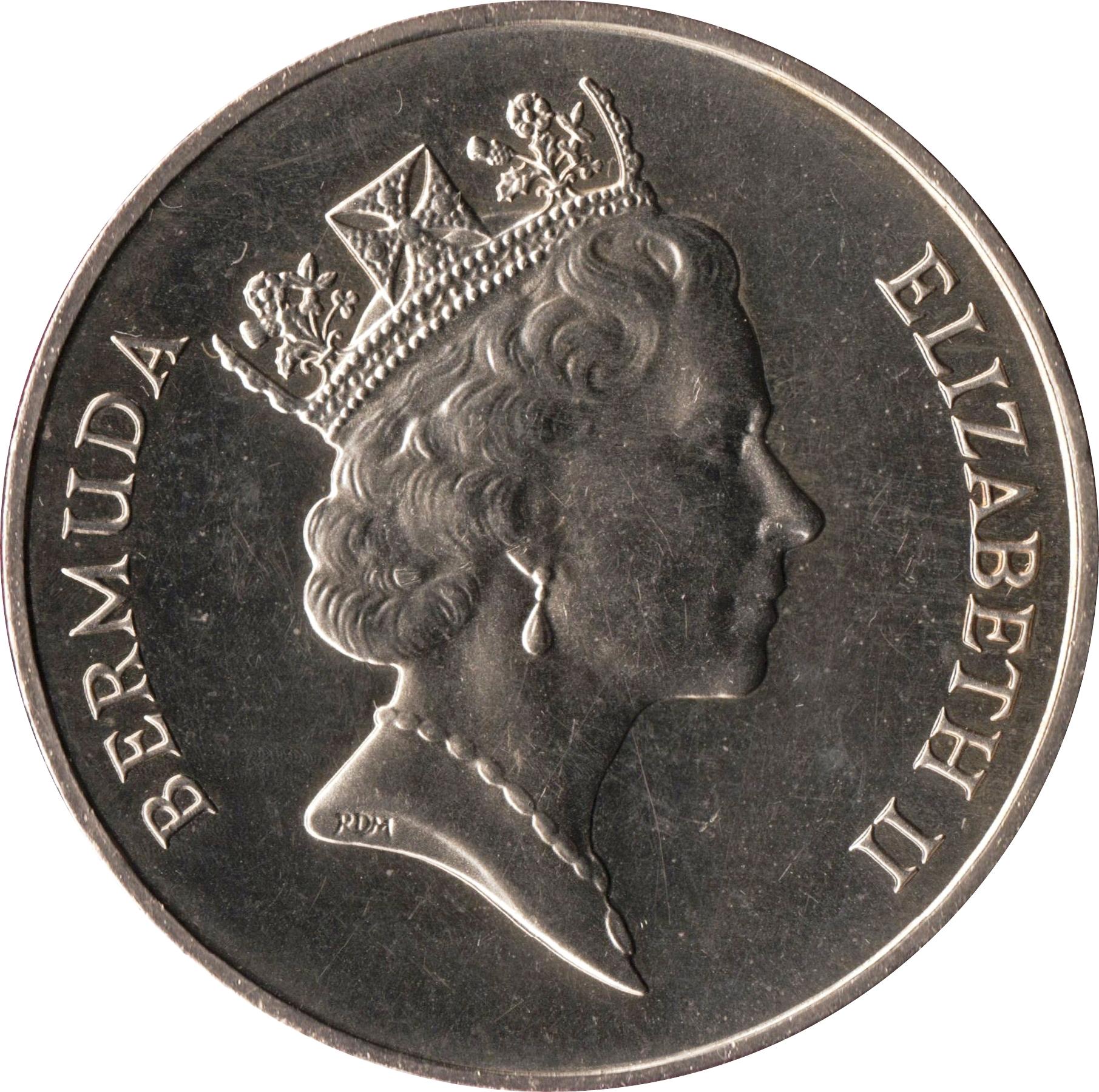 Bermuda Coin 1 Dollar 1985 UNC Cruise Ship Tourism