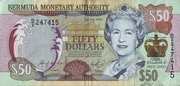 50 Dollars(50th Anniversary of Queen Elizabeth's Coronation 1953 a 2003) – obverse