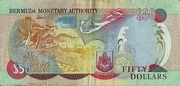 50 Dollars(50th Anniversary of Queen Elizabeth's Coronation 1953 a 2003) – reverse