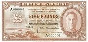5 Pounds (George VI; brown) – obverse
