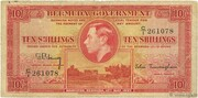 10 Shillings (George VI; red) – obverse