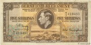 5 Shillings - George VI (Date at bottom) – obverse