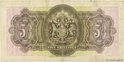 5 Shillings - George VI (Date at bottom) – reverse