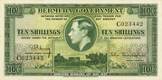 10 Shillings (George VI; green) – obverse