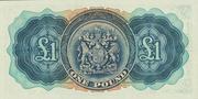 1 Pound - George VI (Date at bottom) – reverse