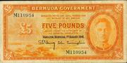 5 Pounds (George VI; orange) – obverse