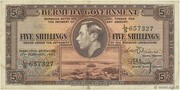 5 Shillings - George VI (Date at left) – obverse