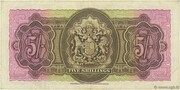 5 Shillings - George VI (Date at left) – reverse