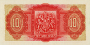10 Shillings - George VI (Red; date at left) – reverse