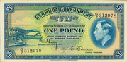 1 Pound - George VI (Date at centre) – obverse