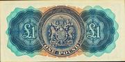 1 Pound - George VI (Date at centre) – reverse
