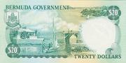 20 Dollars - Elizabeth II (Government) – reverse