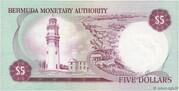 5 Dollars - Elizabeth II (Monetary Authority) – reverse
