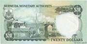 20 Dollars - Elizabeth II (Monetary Authority) – reverse