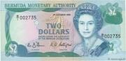 2 Dollars - Elizabeth II (2 lines after DOLLARS) -  obverse
