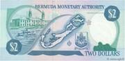 2 Dollars - Elizabeth II (2 lines after DOLLARS) -  reverse