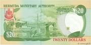 20 Dollars (Elizabeth II) -  reverse