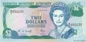 2 Dollars - Elizabeth II (3 lines after DOLLARS) -  obverse