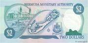 2 Dollars - Elizabeth II (3 lines after DOLLARS) -  reverse