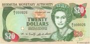 20 Dollars - Elizabeth II (3 lines after DOLLARS) -  obverse