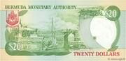 20 Dollars - Elizabeth II (Burnaby House) -  reverse