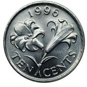 10 Cents - Elizabeth II (3rd portrait) -  reverse