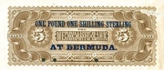 1 Pound 1 Shilling on 5 Dollars (The Merchant Bank of Halifax) – reverse