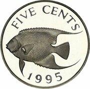 5 Cents - Elizabeth II (Silver Proof Issue) – reverse