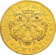 3 Ducat (Trade Coinage) – obverse