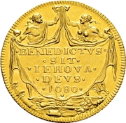 3 Ducat (Trade Coinage) – reverse