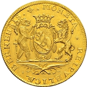 4 Ducat (Trade Coinage) – obverse