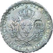40 Batzens (Counterstamped; Ecu Louis XVI with laurel) – reverse