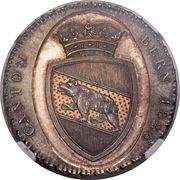 """4 Francs """"Concordiataler"""" (Pattern strike) – obverse"""