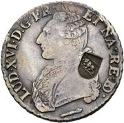 40 Batzens (counterstamped French écu of Louis XV) – obverse