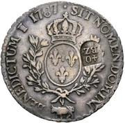 40 Batzens (counterstamped French écu of Louis XV) – reverse