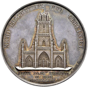 Anniversary Medal of 2 Thalers - Reformation in Bern – obverse